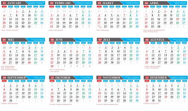 Download Kalender 2019 Indonesia Png