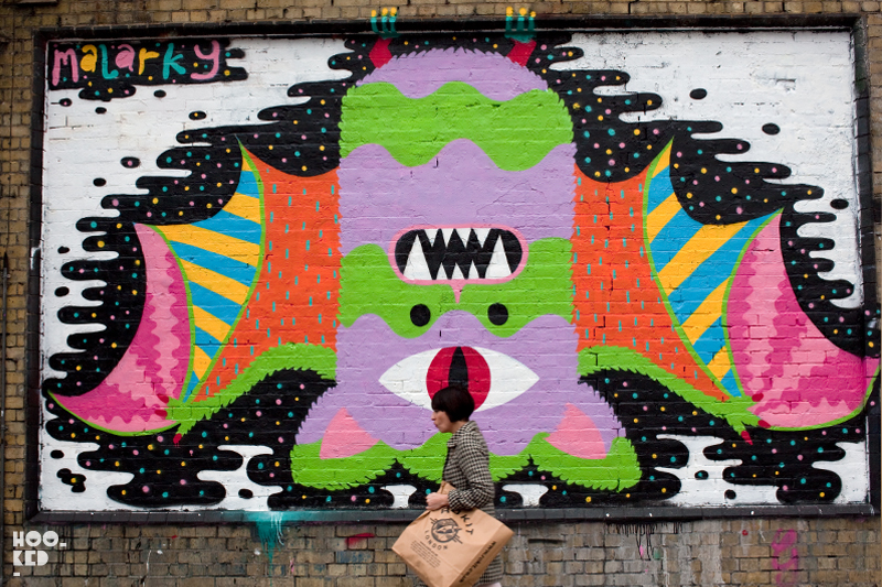 London Street Art Mural by artist Malarky