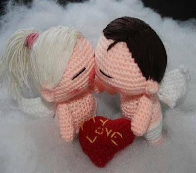 Вязаные куклы ангелы Валентина