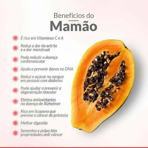 Os benefícios do mamão