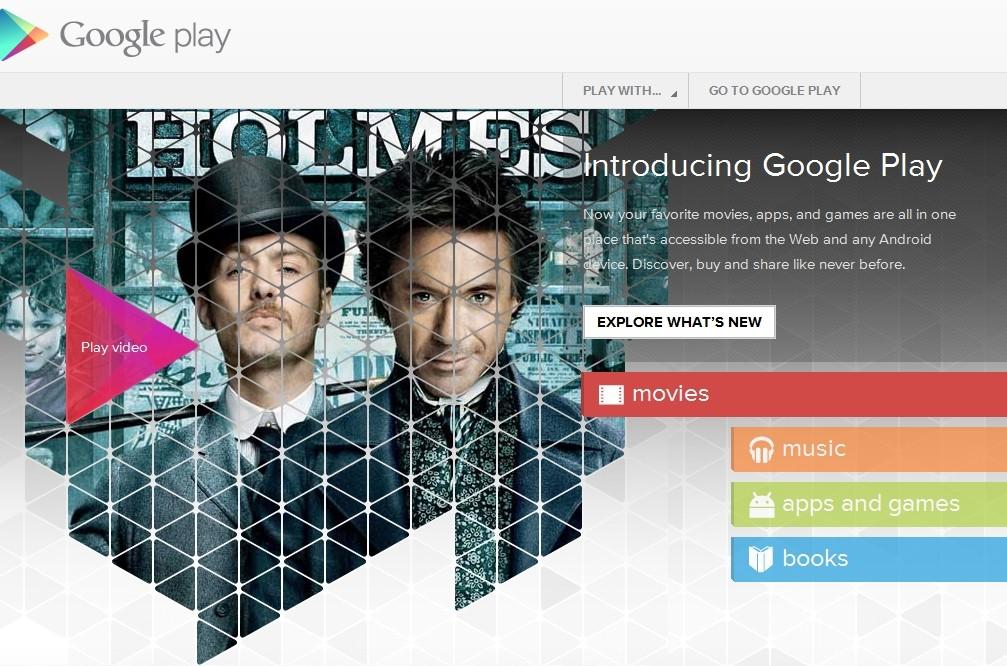 Google centraliza download de apps, livros, músicas e vídeos com o Play