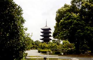 Fotografía de la pagoda del Templo de To-ji (To-ji no gojuu-no-tou)