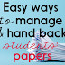 Tips for Managing and Handing Back Papers in the Classroom