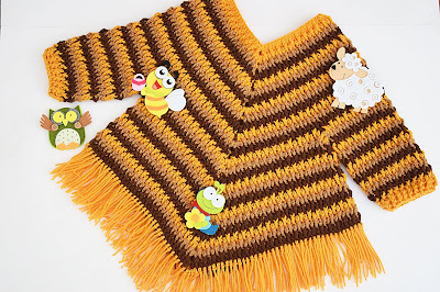 1 - Crochet Imagen Poncho otoñal a crochet y ganchillo por Majovel Crochet