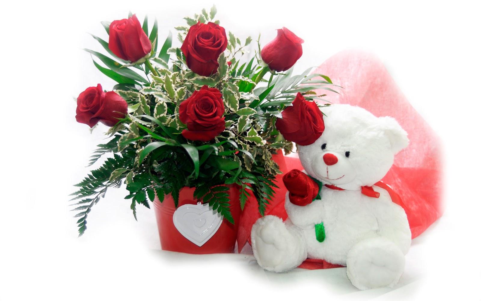 Картинки мишки и розы для тебя