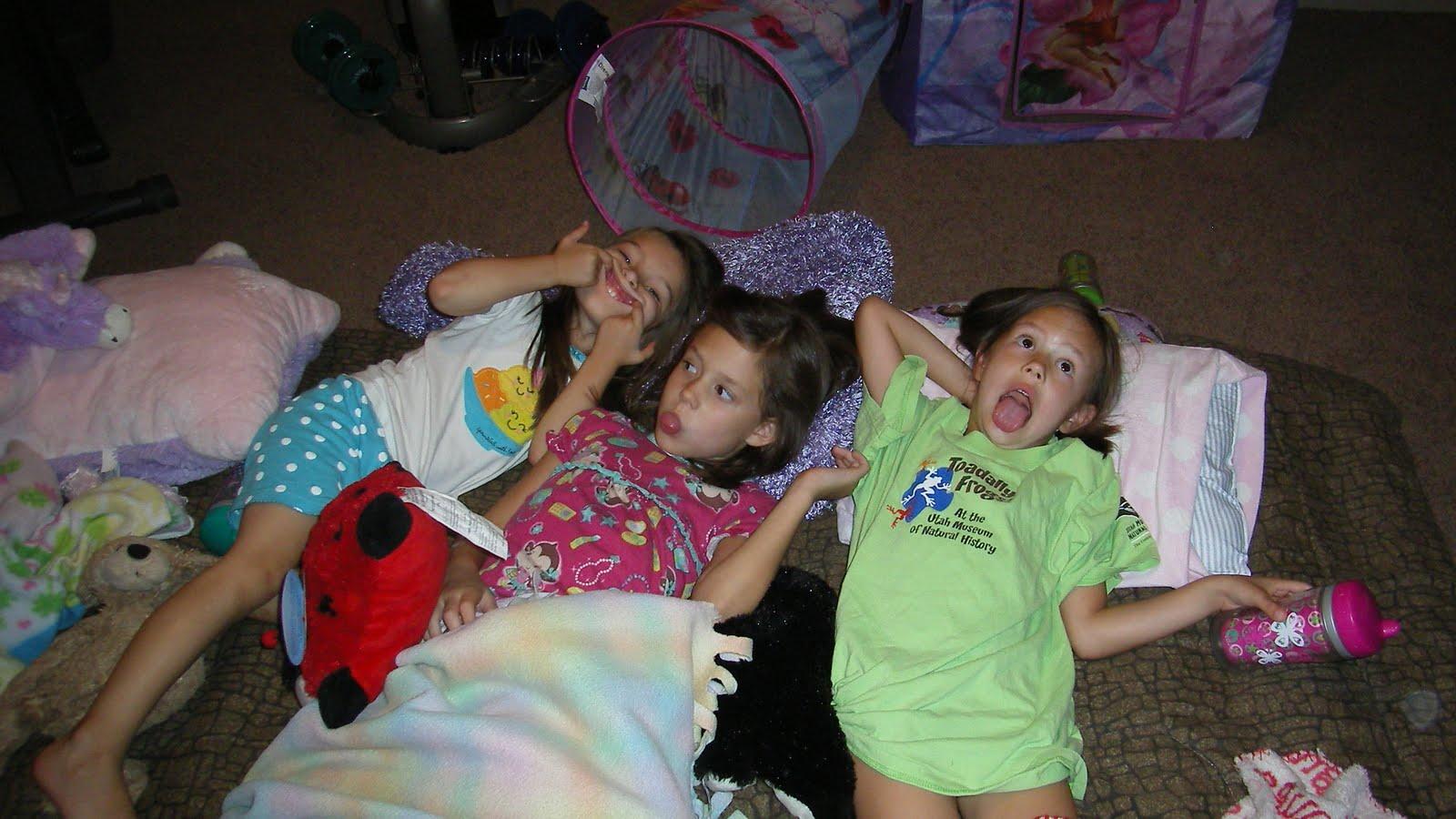 Girl sleepover party panties
