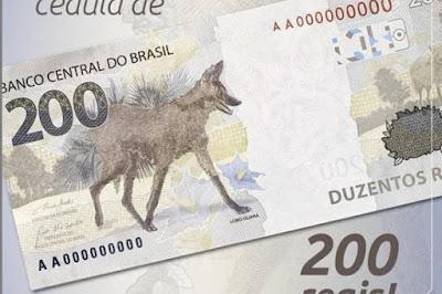 Brasil: Banco Central apresenta a nova nota de 200 reais