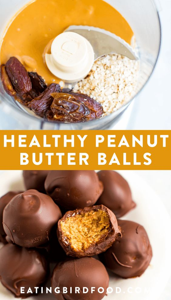Healthy Peanut Butter Balls  #healthy #healthyfood #healthysnack #healthysnackideas #peanut #butter #balls