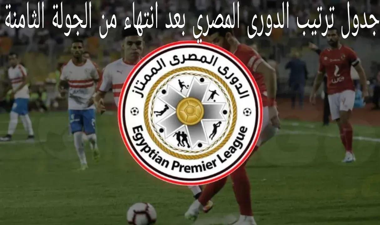 ننشر جدول ترتيب الدوري المصري الممتاز بعد نتائج مباريات الجولة الثامنة