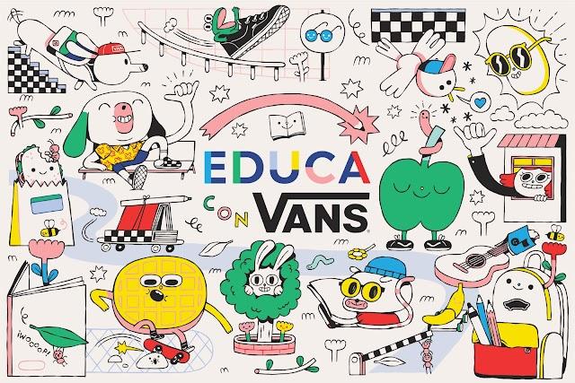 """""""Educa con Vans"""" donará un millón de pesos para apoyar a los niños y niñas de educación básica afectados por el COVID-19"""