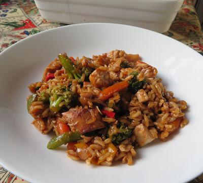 Teriyaki Chicken & Rice Casserole