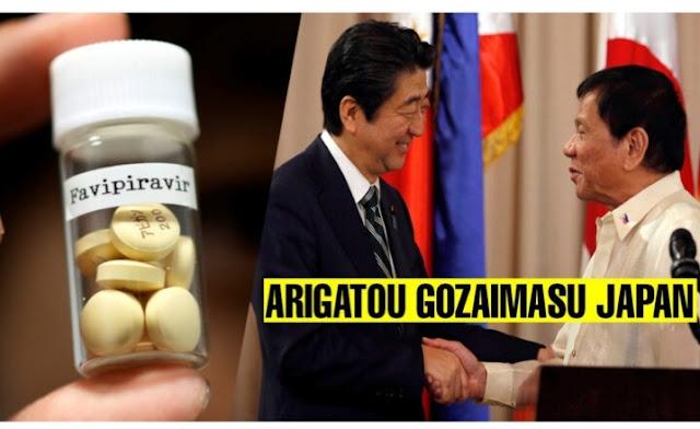 Avigan Drug panlaban sa COVID-19, Libreng ibinigay ng Japan