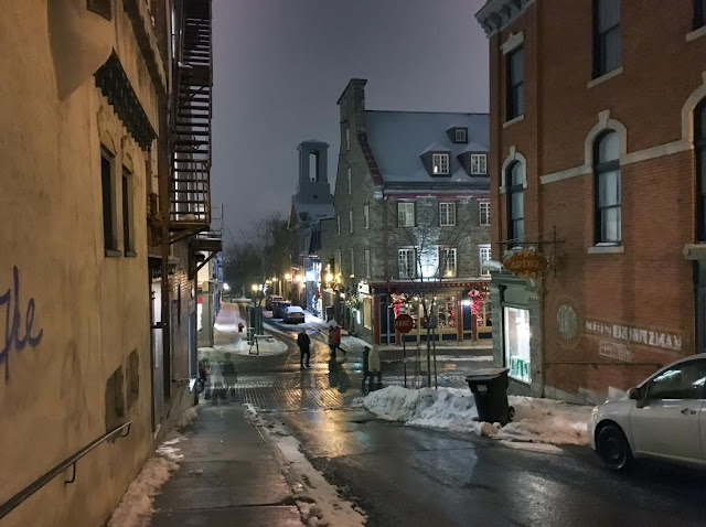 Québec City at night