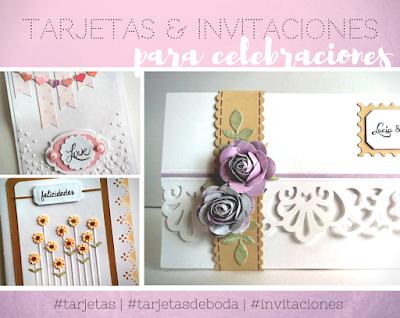 Tarjetas e invitaciones para celebraciones