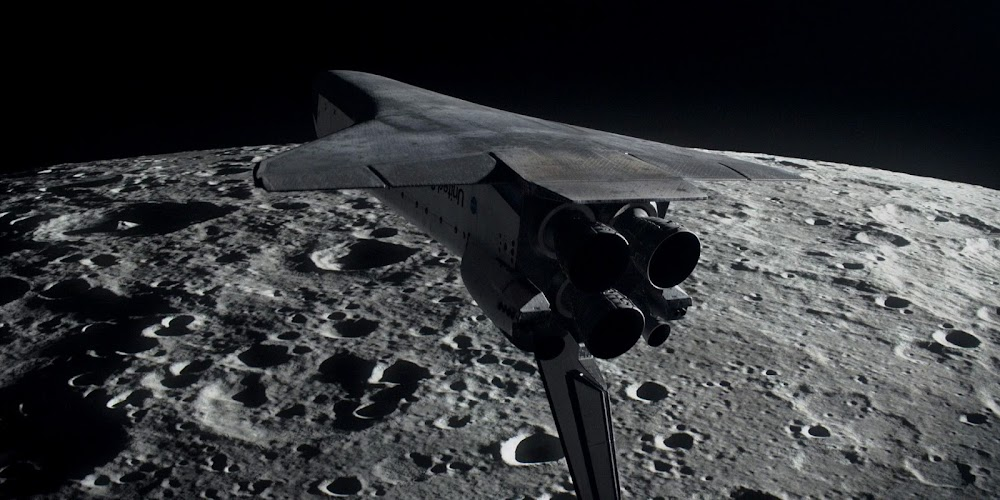 Space Shuttle orbiting the Moon in season 2 of 'For All Mankind'