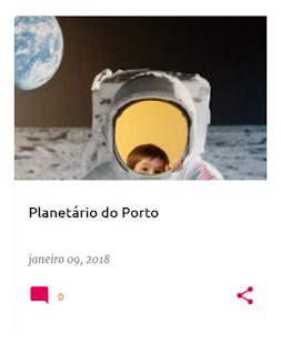 A nossa visita ao Planetário do Porto em Janeiro de 2018
