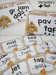 Literacy Intervention- November Resources and two FREEBIES to use in November for primary classrooms- fall activities