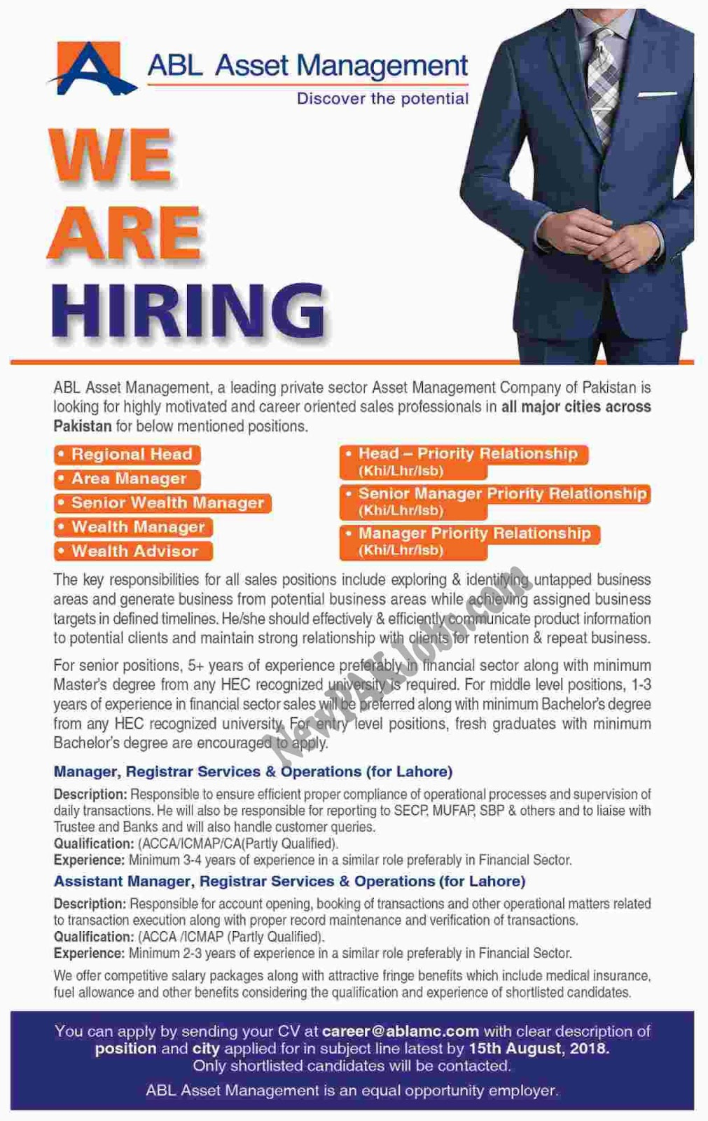 ABL Allied Bank Limited Jobs Opportunities 2018 – All Pakistan
