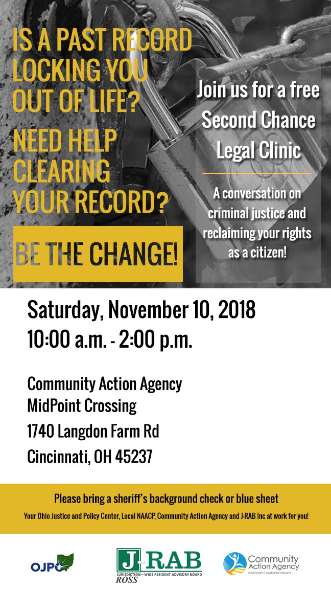 Second Chance Legal Clinic: A Conversation on Criminal Justice & Reclaiming Your Rights!