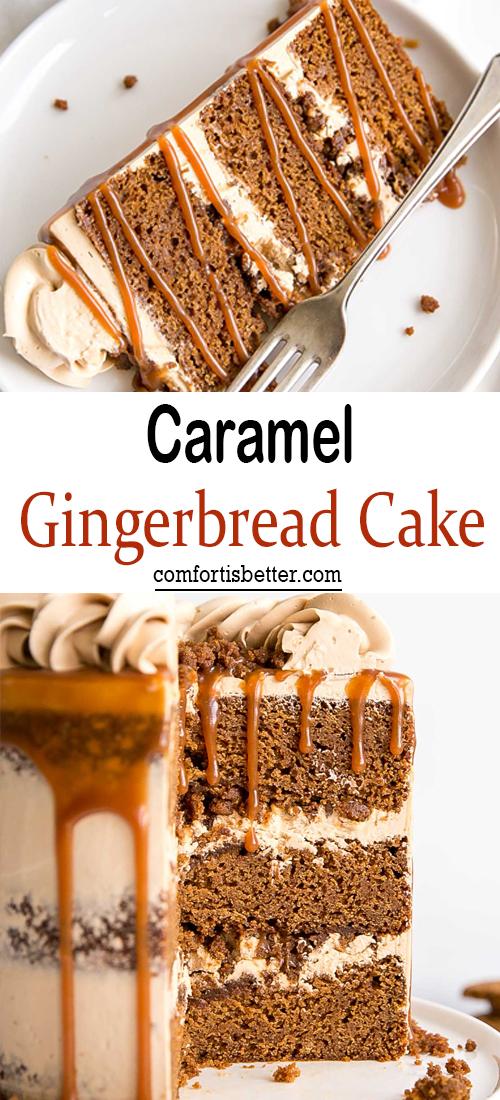 Caramel Gingerbread Cake