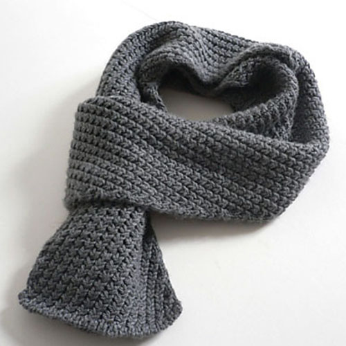 Extra Warm Men's Scarf - Free Pattern