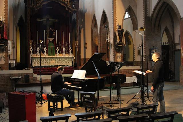 Christopher Glynn and Roderick WIlliams recording Schubert's 'Winter Journey'