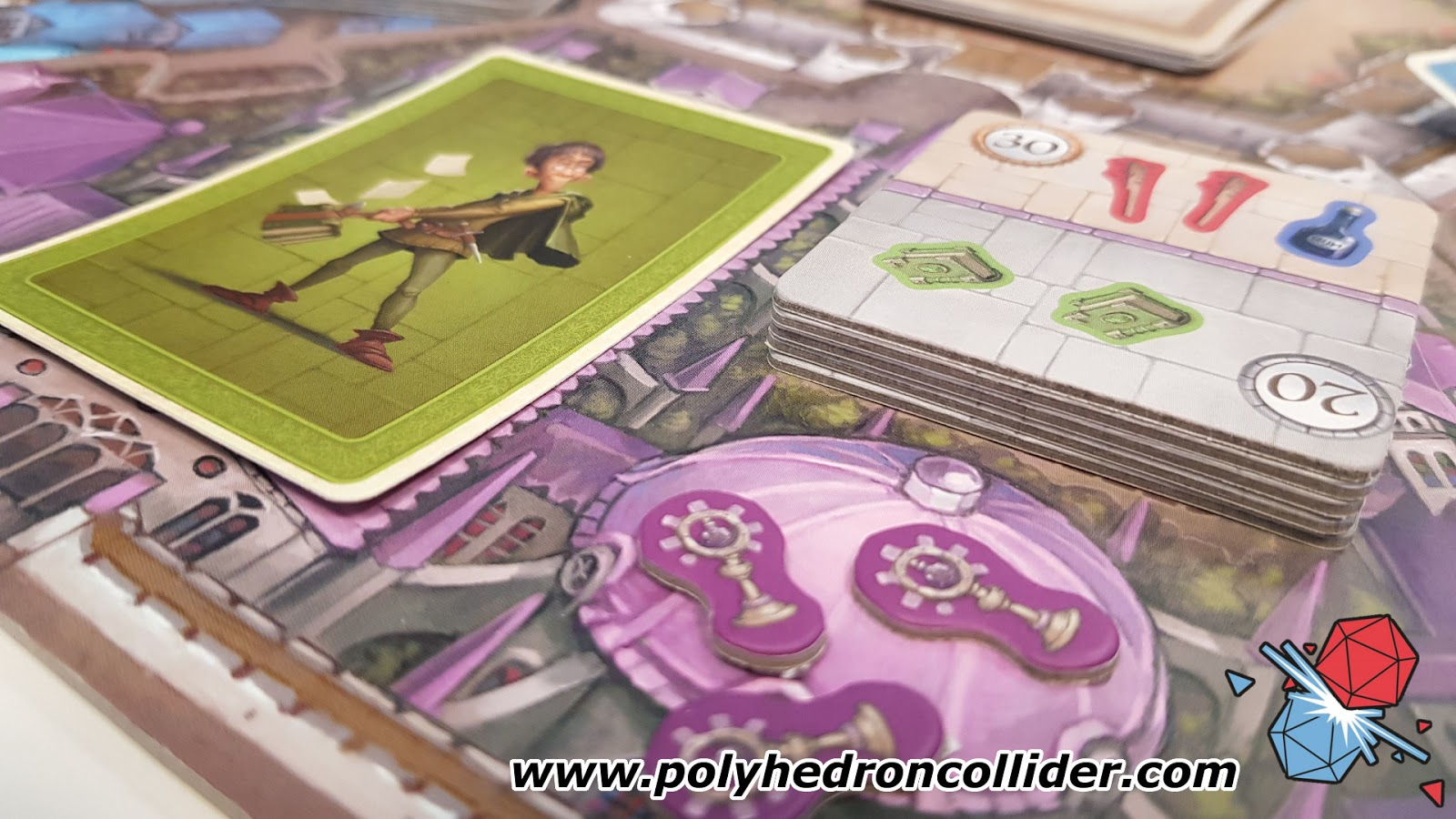 Polyhedron Collider Slyville Board Game Review - In Play Close up 3