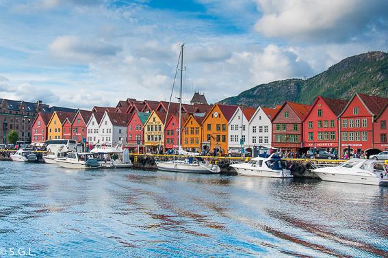 Bryggen en Bergen. Noruega