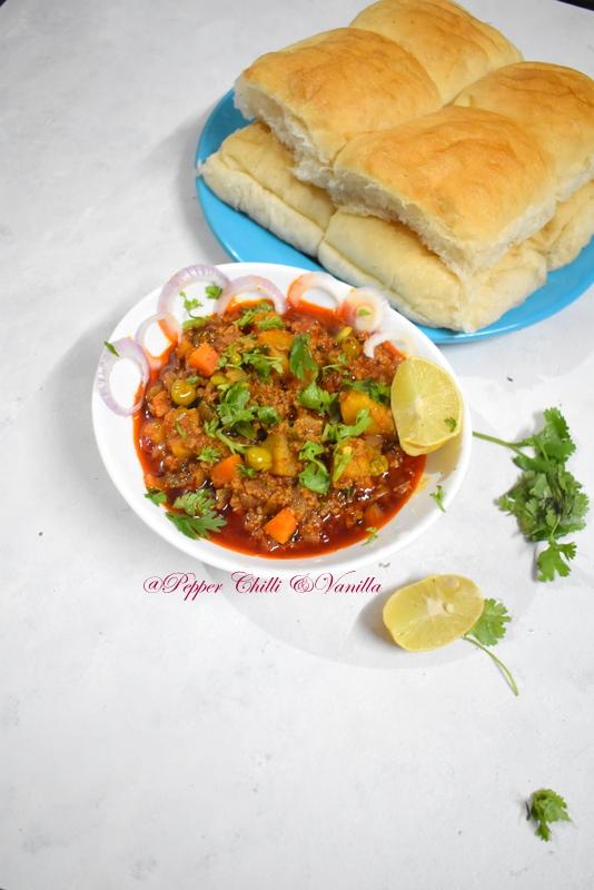 kheema with green peas/kheema masala