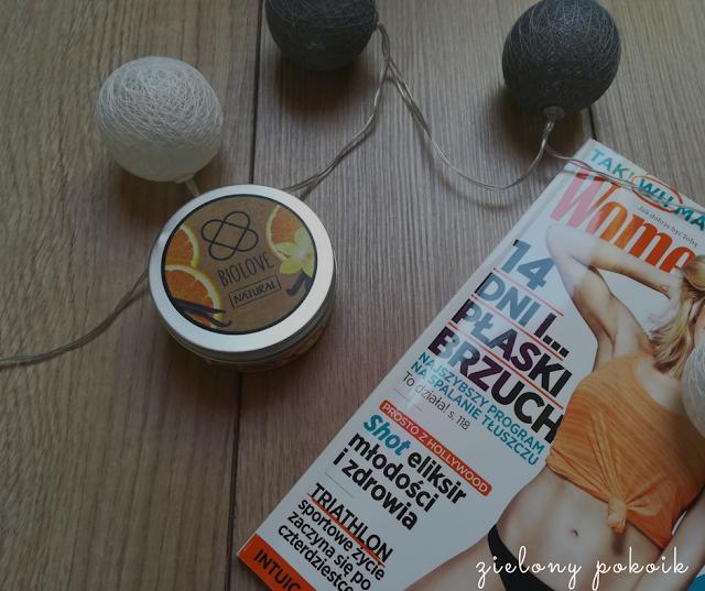 Kosmetycznie: Biolove - Świeca do masażu pomarańcza i wanilia