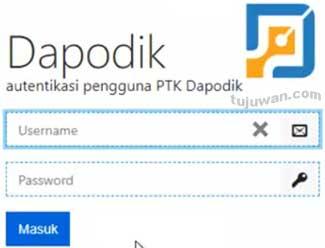 Verifikasi akun PTK/Guru/Kepala Sekolah di Dapodik