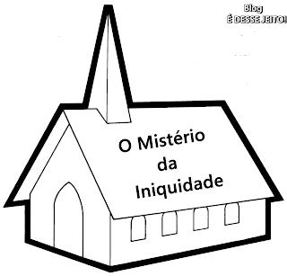 imagem de uma igreja, simbolizando a igreja iniqua de roma