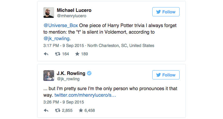 J.K. Rowling Reveals Fans Have Been Mispronouncing Voldemort