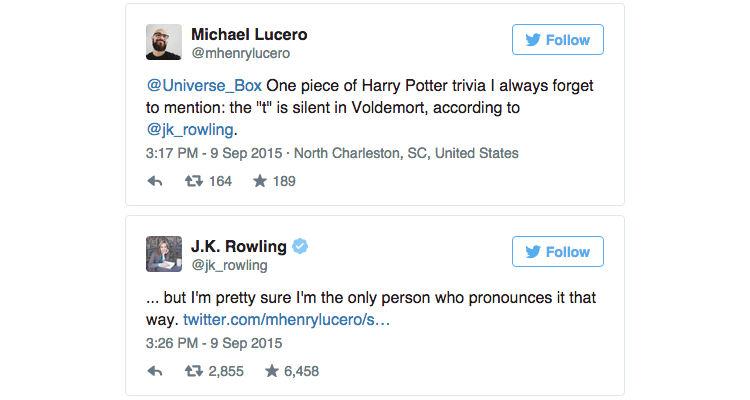 J.K. Rowling Reveals Fans Have Been Mispronouncing Voldemort