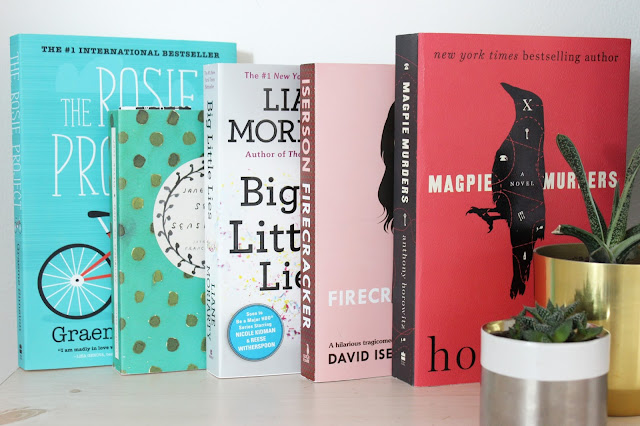 what I'm reading, what I read, book review, book recommendations, the Rosie project, sense and sensibility, big little lies, firecracker, magpie murders