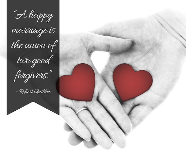 A happy marriage is the union of two good forgivers #quote