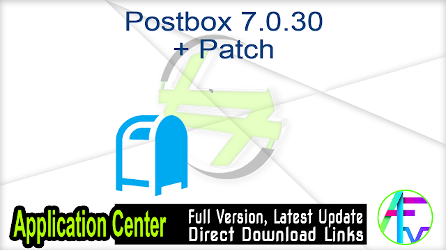 Postbox 7.0.30 + Patch