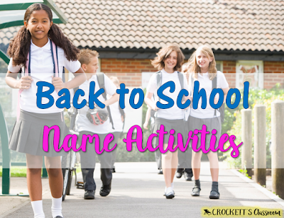 Back to school name activities, Learning new names at the beginning of a new school year.