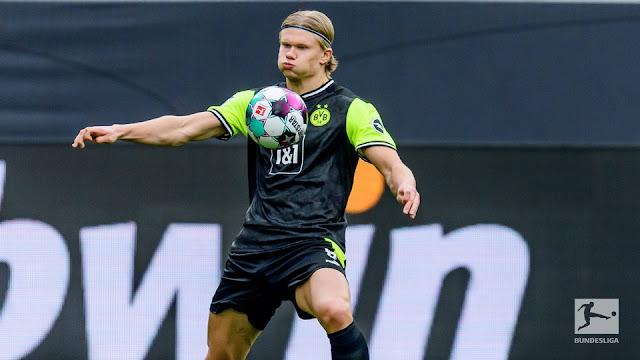 Erling Haaland scored his 50th Borussia Dortmund goals