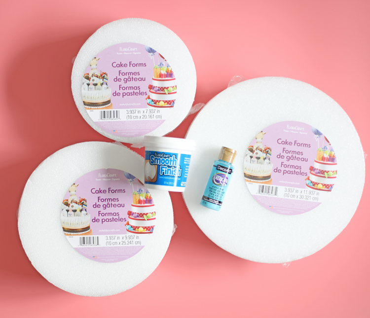 Crafts using Foam Cake Forms