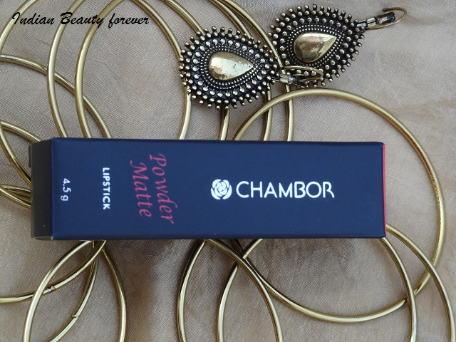 Chambor Powder Matte Lipstick in Coral Rose shades and swatches