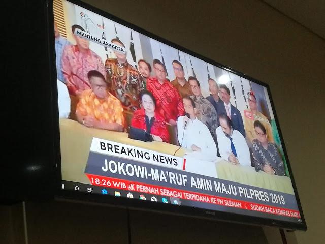 Resmi, Akhirnya Jokowi Tunjuk Ketua MUI Sebagai Cawapres 2019