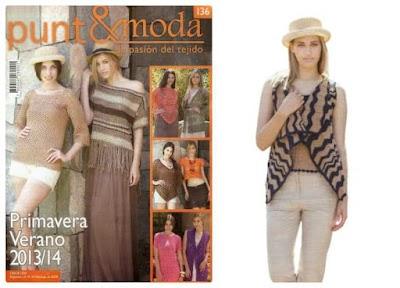 Revista punto-moda número 136 ganchillo-tricot