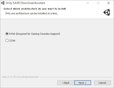Unity 5.4.0f3 Download Assistant