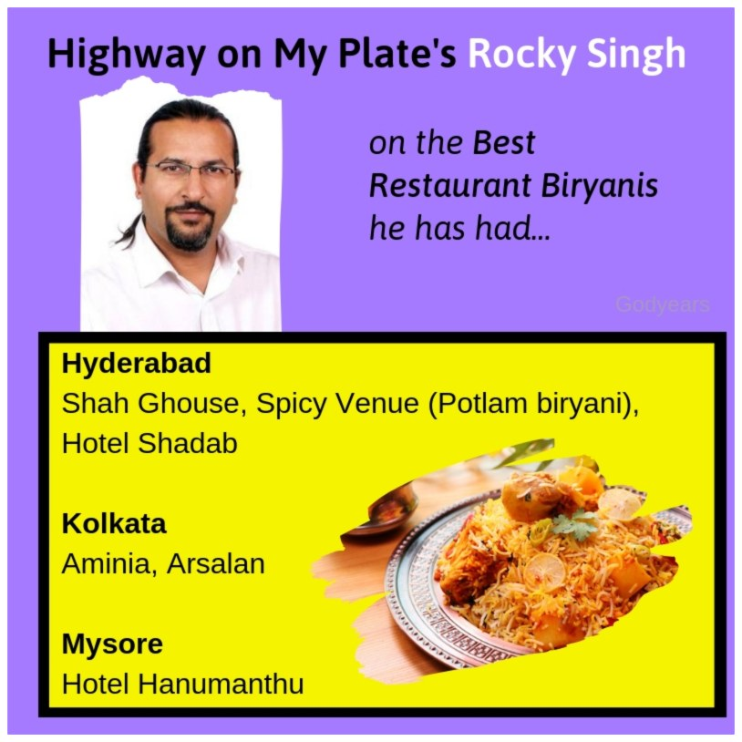 my extensive compilation of over 50 restaurants across the country that you felt served the tastiest biryanis you have ever had in your life.