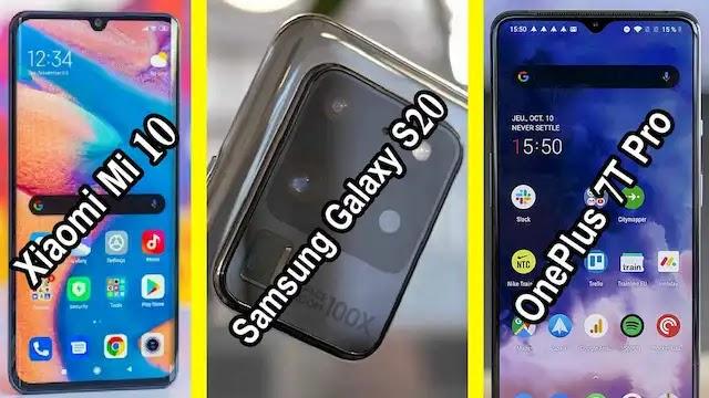 Xiaomi Mi 10 ضد Samsung Galaxy S20 ضد OnePlus 7T Pro