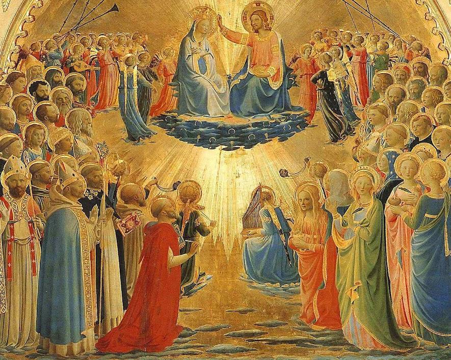 Coroação de Nossa Senhora, Fra Angelico  (1395 – 1455) Galeria degli Uffizi, Florença,