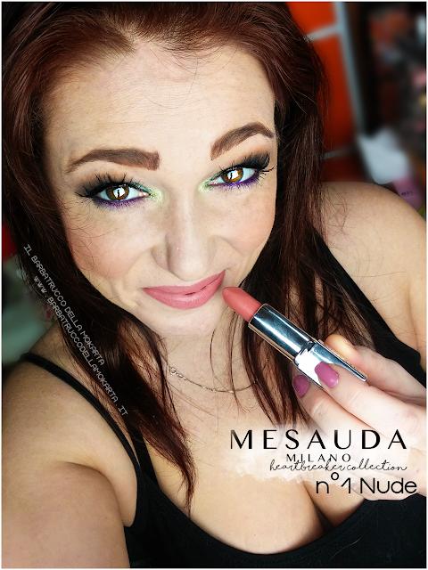01 nude applicazione makeup heartbreaker lipstick rossetto matt , matt lipstick mesauda