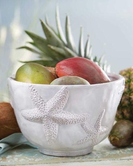 White Starfish Bowl