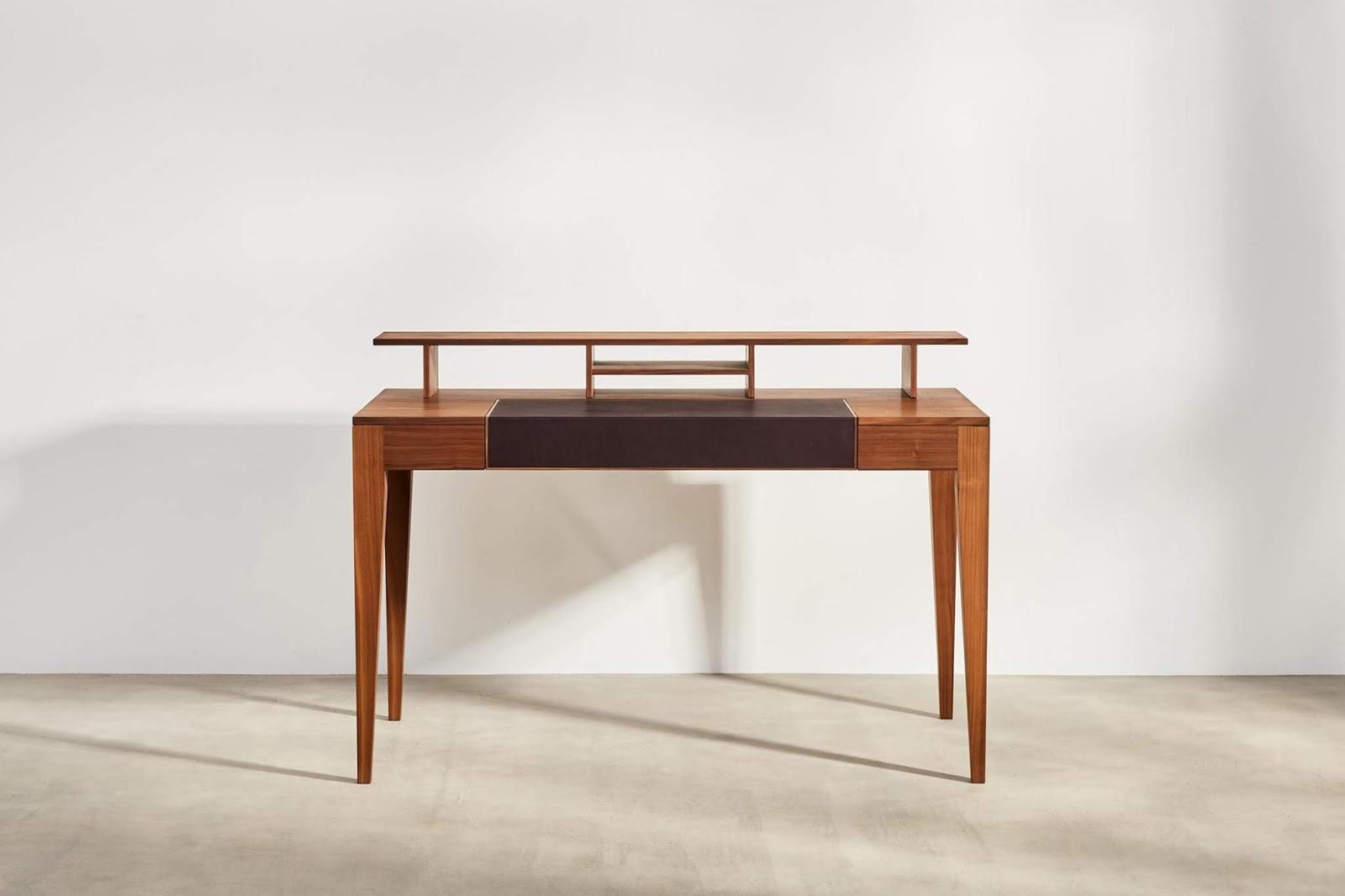 Rozkładane biurko z solidnego drewna